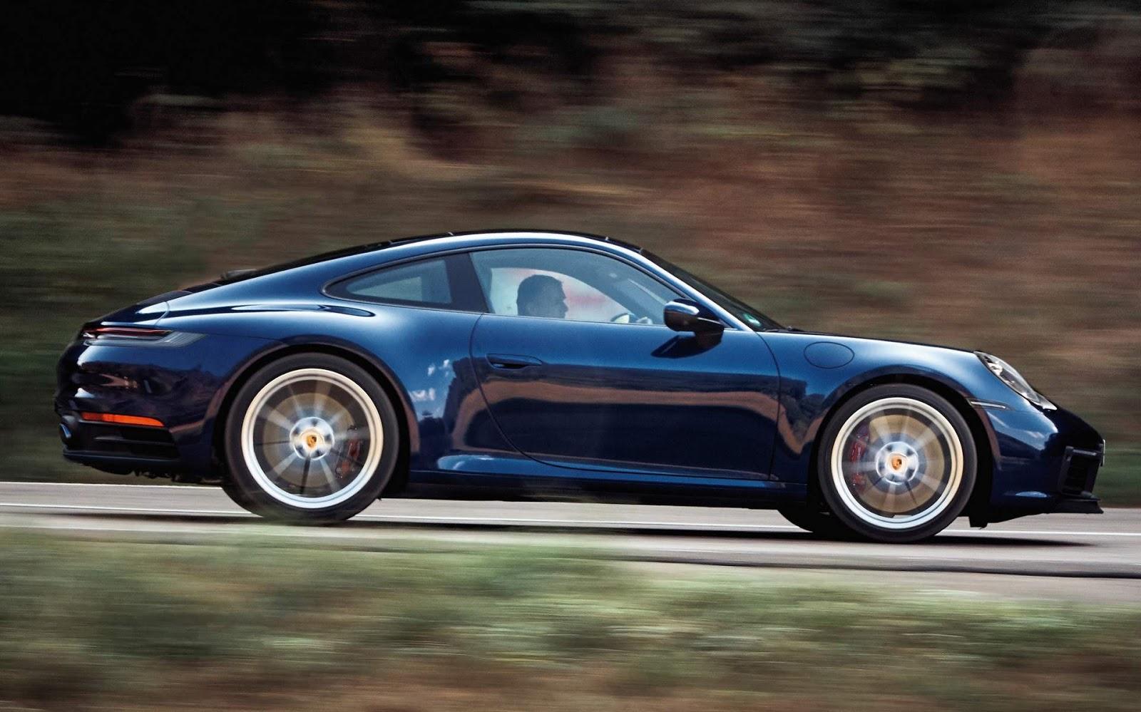 Porsche comunica reall de Taycan, 911 e 718 no Brasil - risco de perda de direção