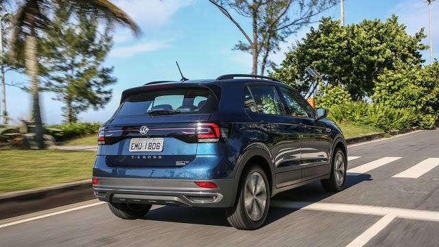 Volkswagen T-Cross está no top 30 mais vendidos do Brasil